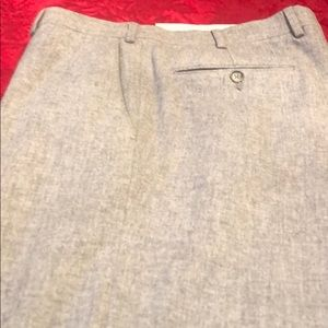 34 gray Zegna pants wool: cuffs, gray blk fleck